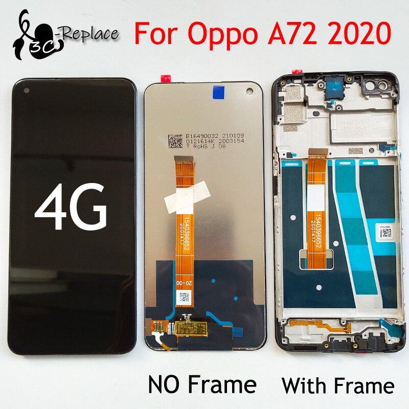 Оригинальный черный 6,5 Дюймов Тонкий Высококачественный защитный чехол для Oppo A72 2020 4G глобальная CPH2067 ЖК-дисплей Дисплей кодирующий преобра...
