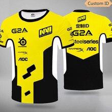 Ukraine Natus Vincere NAVI Player Jersey Uniform Tshirt Fans T-shirt Männer Frauen T Shirts Individuelles T-shirt Drucken Regelmäßige Hülse