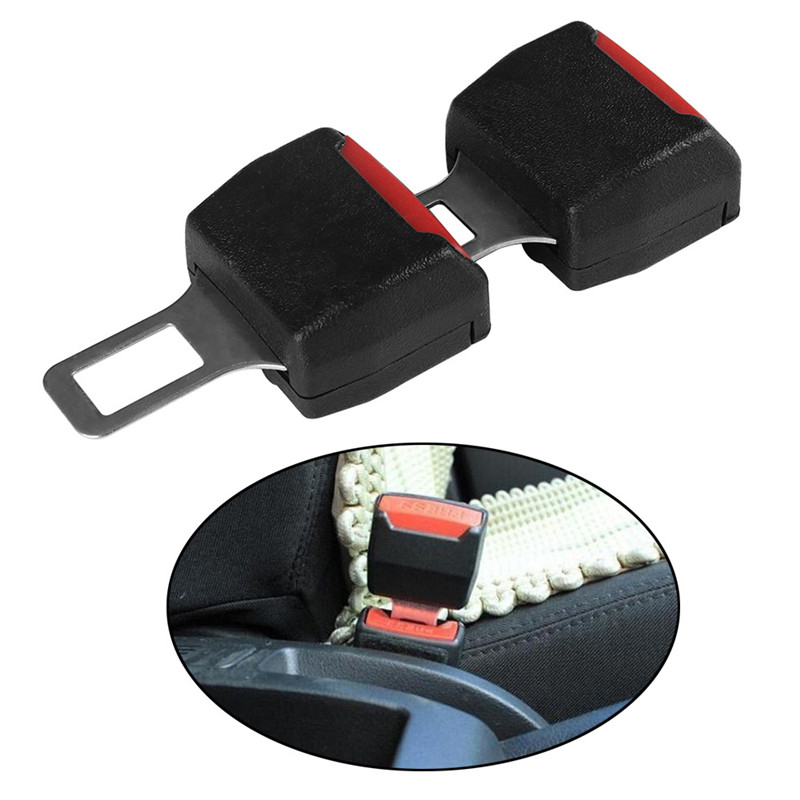Car Seat Belt Extender 2 Pack Black Universal Auto Seat Belt Buckle Car Extender Clip Metal Seat Belt Tongue Buckles Clip Extension Accessories