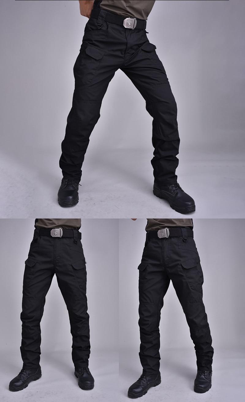 IX7 pantalon tactique Cargo pantalon élastique poche Multiple militaire mâle pantalon imperméable résistant à l'usure en plein air pantalon tactique