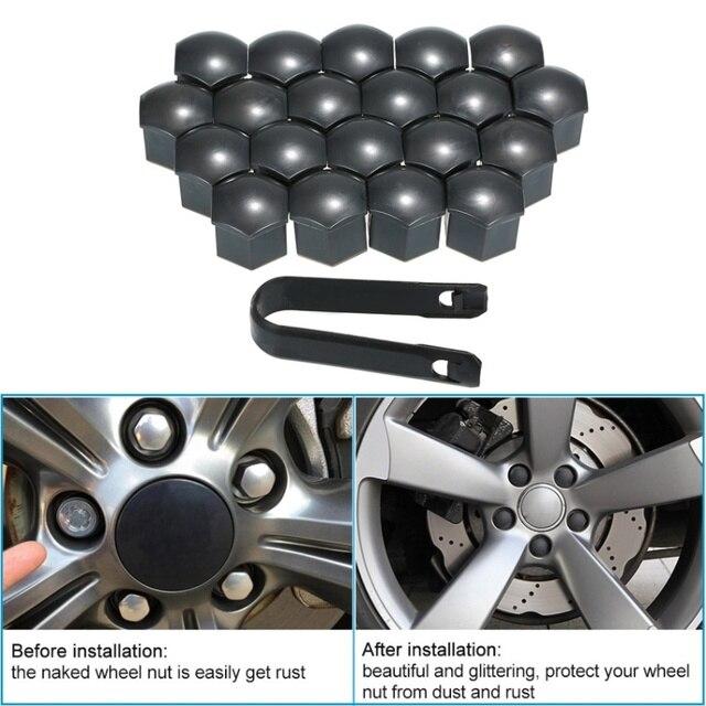 20Pcs Wheel Hub Covers Lug Nut Bolt Screw Cover Tyre Protection Cap Universal Blue Aramox Wheel Hub Screw Cover