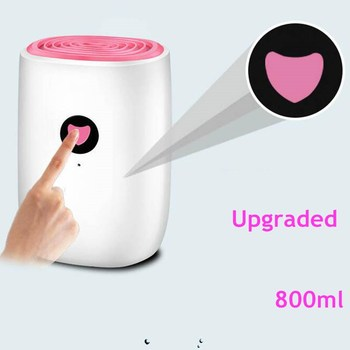 800ml Mini Dehumidifier For Home Upgraded 25W Dehumidification Machine Air Dryer Clothes Dryers Moisture Absorber home electric dehumidifier intelligent control mini air dehumidifying machine wet day clothes dryer helper device air purifier