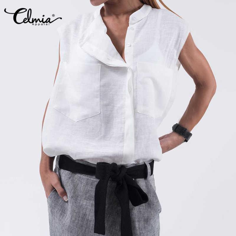 Neutral Blouse Vintage Cotton Blouse Safari Blouse Off White Blouse Large Pockets Vintage Blouse Tortoise Buttons