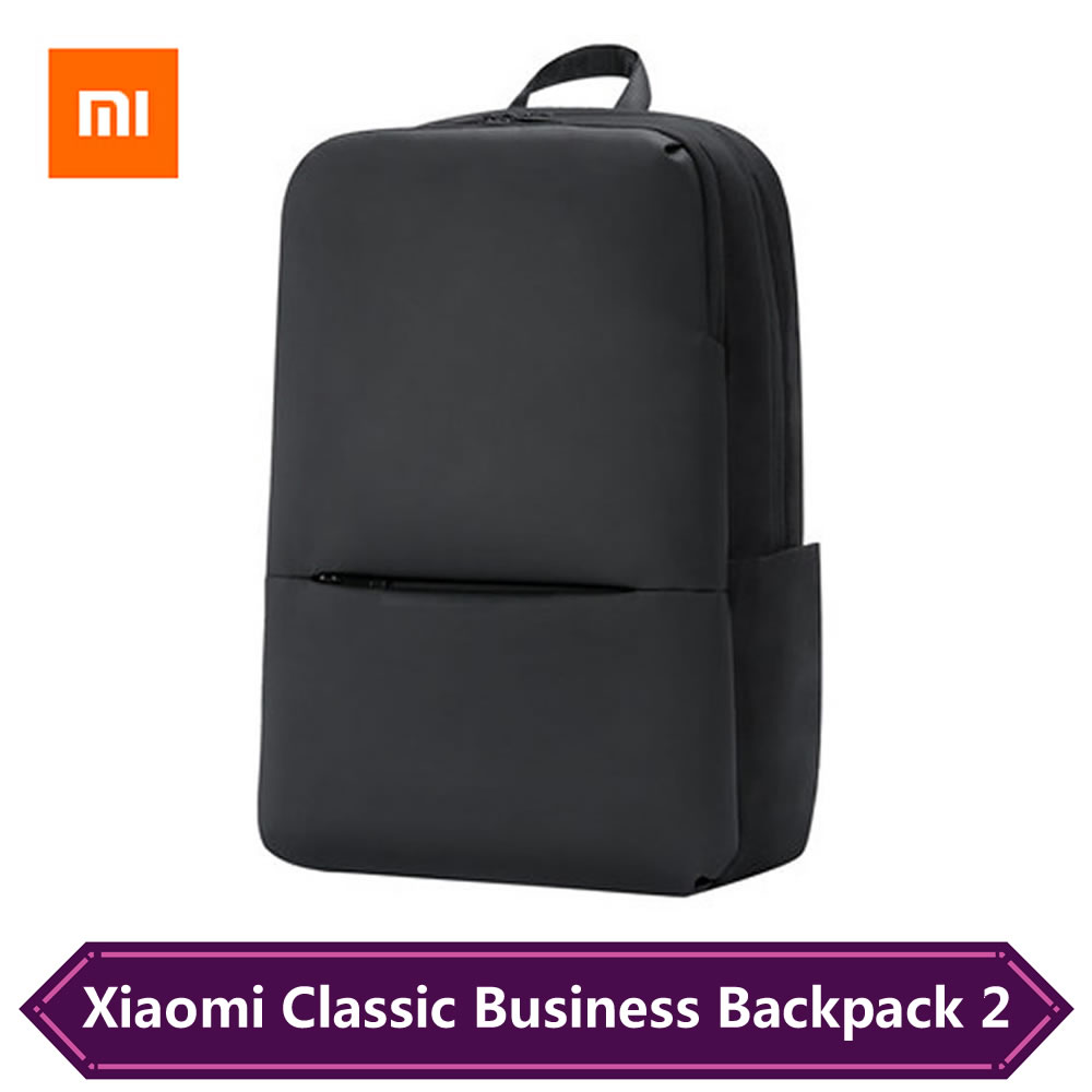 New Xiaomi Classic Business Backpack 2 Generation Men <font><b>Laptop</b></font> <font><b>Bag</b></font> For 15.6 <font><b>Inch</b></font> Waterproof Travel Schoolbag 18L Large Capacity image