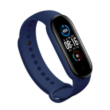 цена на Silicone Watch Band For Xiaomi 5 Smart Bracelet /MI Band 5 Parts Wristband Replacement Strap