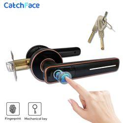 Биометрический Дверной замок отпечатков пальцев интеллектуальный электронный замок для дома и офиса безопасности с механическим ключом