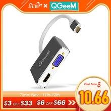 QGEEM USB C HDMI VGA محول USB نوع c إلى HDMI 4K ذكر إلى أنثى لماك بوك برو ChromeBook غالاكسي S9 هواوي P20 USB C HDMI