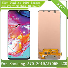 """6.7"""" SUPER AMOLED For Samsung Galaxy A70 2019 A705 A705F SM-A705MN With Frame LCD Display Touch Digitizer Assembly Replacement"""