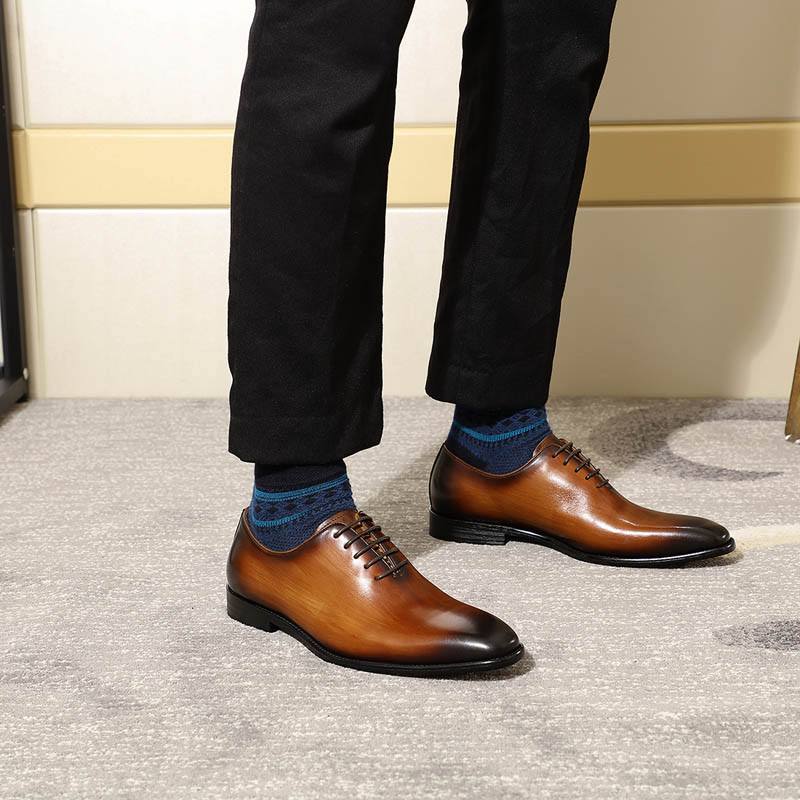 Classic men's Oxford shoes, made of genuine leather 2