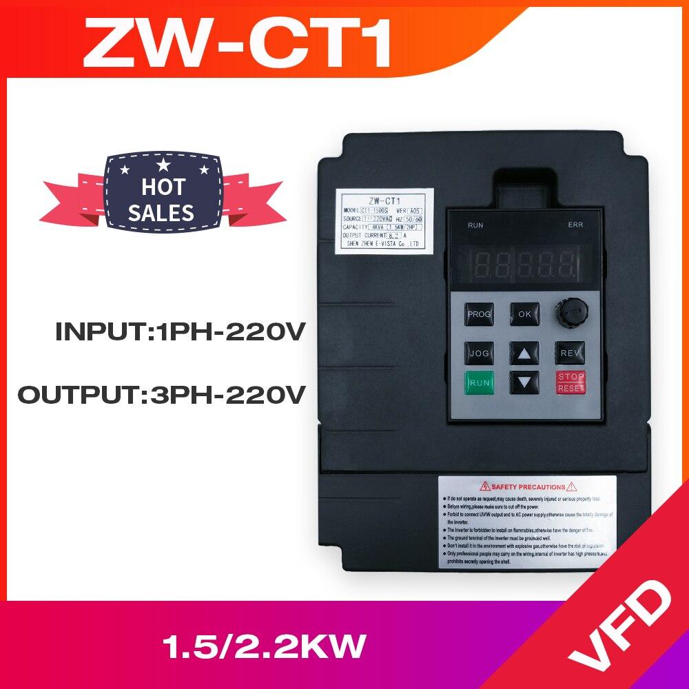 Φ Инвертор контроллера 1,5 кВт/2,2 кВт/4 кВт односторонний вход 220 В и Трехфазная стандартная скорость