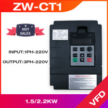 Frequency Converter VFD ZW-CT1 Controller Inverter 1.5KW/2.2KW/4KW One-Way 220v Input and Three-Phase Output Motor Speed
