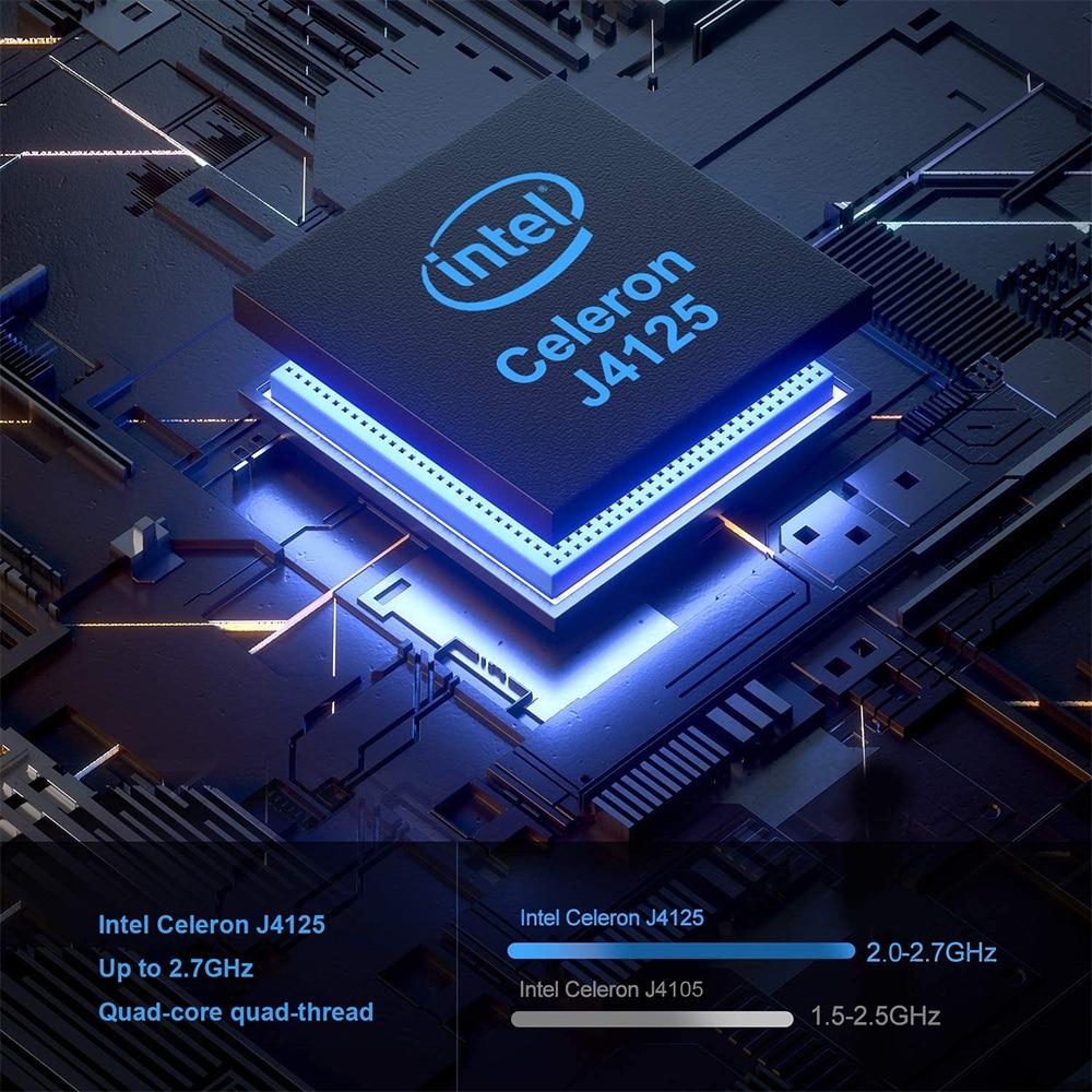 GK3V Windows 10 Mini PC Intel Gemini Lake J4125 8GB DDR4 128GB 256GB 512GB 1TB SSD Gaming PC 2.4G 5G WiFi 1000M Mini Computer 3