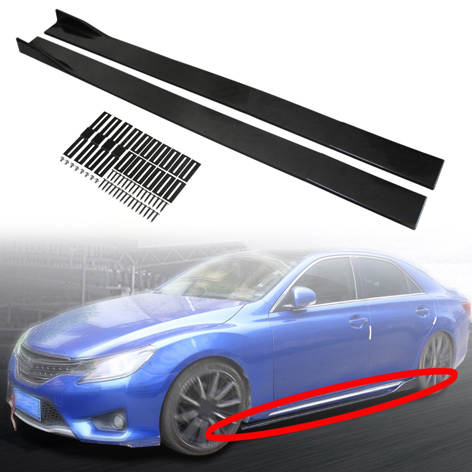 """Areyourshop 86.6 """"universal saia lateral extensões painel de balancim divisores lábio polipropileno para bmw para audi para honda peças do carro"""