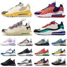 Zapatillas deportivas air react para hombre y mujer, zapatos para correr, Bauhaus Aliens, triple, blanco y negro, Travis Scott, Cactus Trails max, 2021, 270