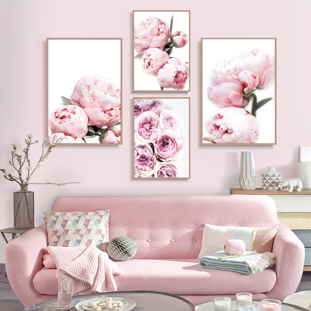 Flowers Print Set Of 3 Wall Art Poster Pastel Wall Art Peony Print Flower Prints Floral Art Bedroom Wall Art Decor 3 Piece Wall Art