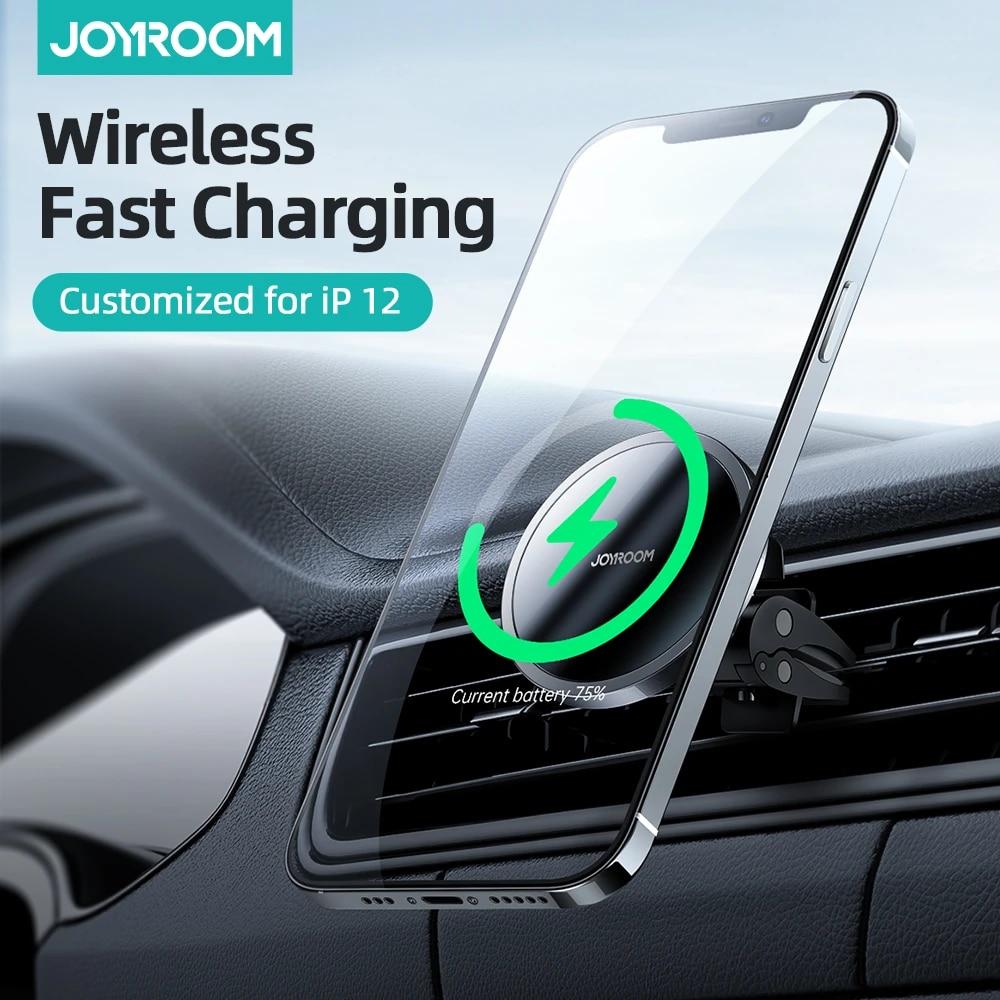 차량용 마그네틱 무선 충전 거치대 아이폰 12 프로 최대 15W Qi Joyroom
