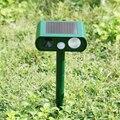 Высокое качество ультразвуковой солнечной энергии Открытый Отпугиватель кошек собак вредителей животных PIR датчик Scarer аксессуары