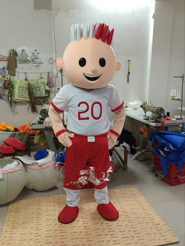 Soccer Boy Mascot Costume Suits Cosplay Party Game Dress Outfits  Clothing  Promotion Carnival Halloween Xmas Easter Adults