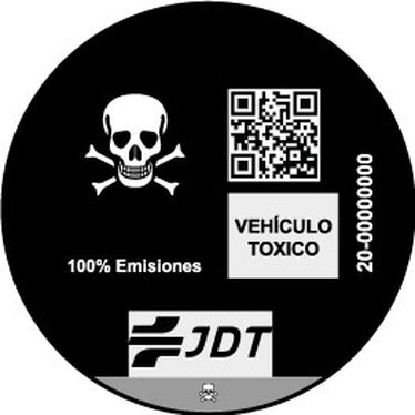 VINYL ADHESIVE BUMPER SKULL DISTINCTIVE ENVIRONMENTAL CAR VEHICLE TOXICO Jdt