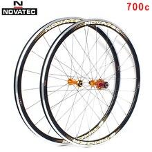 Novatec Road koło rowerowe zestaw 700C łożysko ze stopu aluminium 7-11 prędkość C hamulec przedni tylny 20/24H QR koła rowerowe