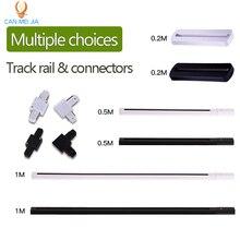 Светодиодный рельсовый рельс 1 м, алюминиевый светильник, 0,5 м, 20 см, 2 провода, система с разъемами, универсальный рельсовый светильник
