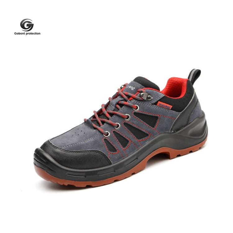 Анти-разбивая и анти-ударная безопасная обувь легкая Мужская дышащая дезодорирующая Расширенная стальная защитная обувь походная обувь gu