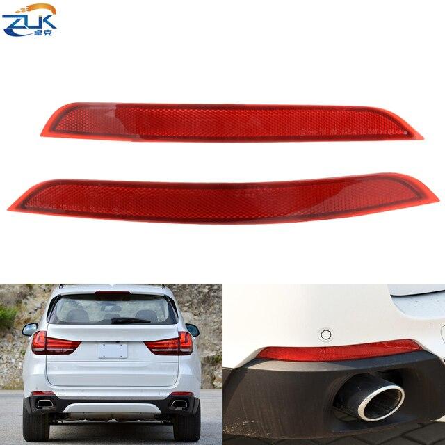 ZUK Rear Bumper Reflector Trim Lens Fog Light Fog Lamp For BMW X5 F15 25D 28I 30D 35D 35I 40D 40E 50I 2014 2015 2016 2017 2018