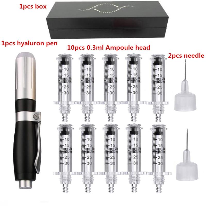 0.3ML High Pressure Hyaluronic Acid Pen High Density Metal For Anti Wrinkle Lifting Lip Hyaluron Gun Atomizer Lip Injection Pen