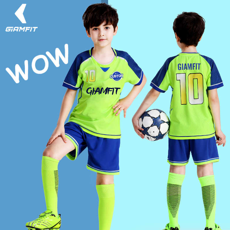 Kids Soccer Jerseys 2019 France Soccer Football Jersey Custom Short Sleeves Boy Football Shirt Shorts Team Training Uniforms