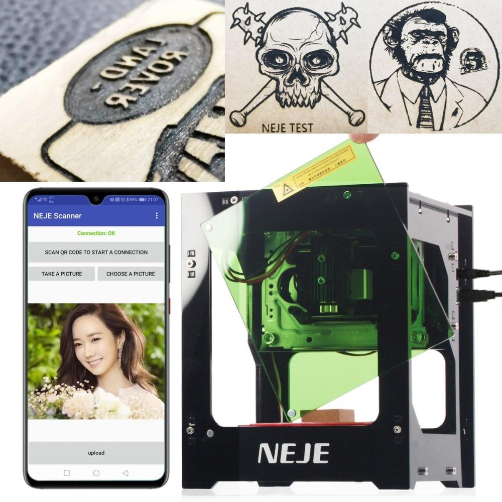 Neje DK-8-KZ 1000/3000 mw profissional diy desktop mini cnc gravador a laser cortador de gravura máquina de corte de madeira roteador
