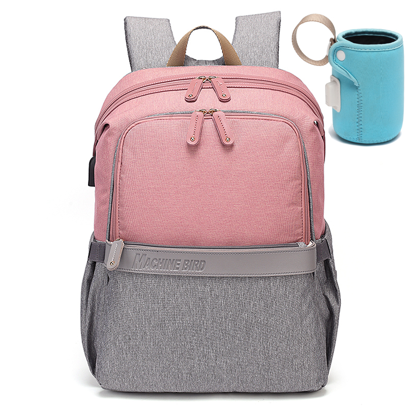 New Diaper Bag With Usb Port Warmer Maternity Baby Bags For Mom Mommy Backpack Stroller Organizer Changing Waterproof Nappy Bag