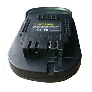 Image 3 - Mt20Dl Battery Adapter For Makita 18V Bl1830 Bl1860 Bl1815 Li Ion Battery For Dewalt 18V 20V Dcb200 Li Ion Battery Wall Light