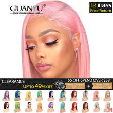 Pink Bob Lace Front Wigs Human Hair 13X4 Pre Plucked 613 Blo