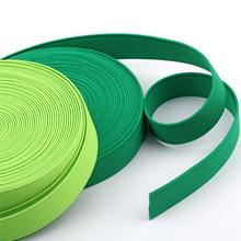 28meters roll 20mm Sewing Elastic Band Colourful High Elastic Fiat Rubber Band Waist Band Stretch Rope Elastic Ribbon 2 Rolls cheap emulsion inner white black rose pink beige blue sky blue navy wine coffee khaki green light green grey orange 28 meters per lot