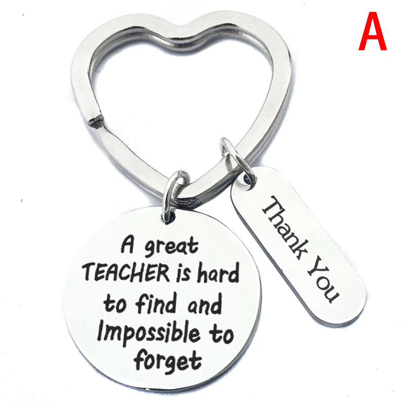Stainless Steel Teachers' Day Thank You Festival Gift Teacher Keychains  Ring Key Holder