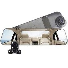 цена на Car DVR Dual Lens Car Camera Full HD 1080P Video Recorder Rearview Mirror With Rear view DVR Dash cam Auto Registrator