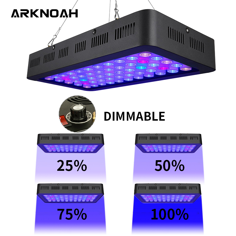 ARKNOAH Aquarium Light 165w Dimmable Led Aquarium Lights Coral Lamp For Marine Aquarium Dimmer Fish & Aquatic Lightings
