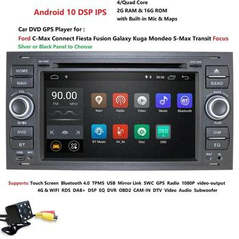 Hizpo Car Multimedia Player Android 10 GPS Autoradio 2 Din 7 Inch For Ford/Mondeo/Focus/Transit/C-MAX/Fiesta 2GB RAM MAP image