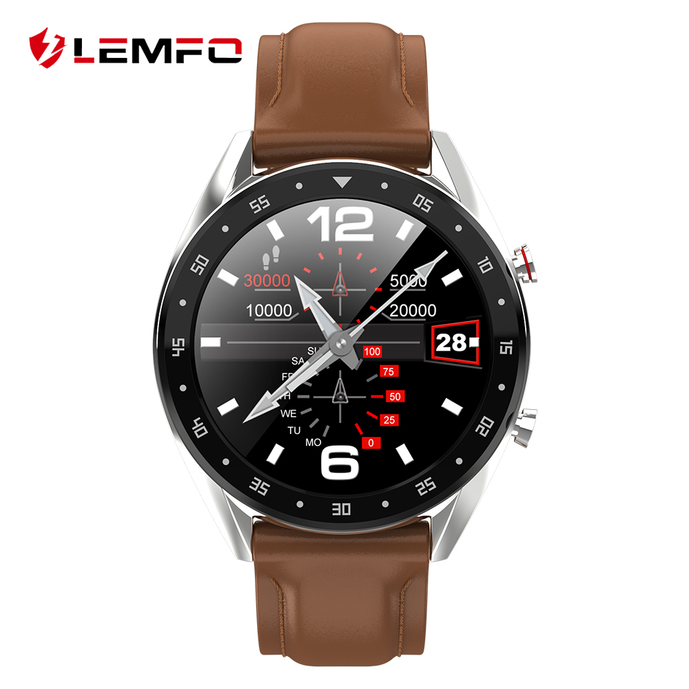 LEMFO 2019 Newest PPG + ECG Smart Watch Men Full Round Touch Screen Bluetooth Call Ip68 Waterproof Strap Replaceable Smartwatch(China)
