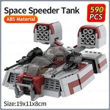 MOC Space Military Series Star Speeder Tank AAC-1 Model klocki montaż samoloty pojazd cegły dzieci DIY zabawki świąteczny prezent