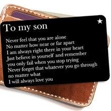Кошелек Карты Подарок Для Сына От Родителей Гравировка Металл Кошелек Вставка Мини Любовь Примечание