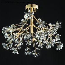 Modernas luzes lustre de cristal do projeto da flor AC110V KOSTKING cromo 220V lâmpada quarto sala de estar