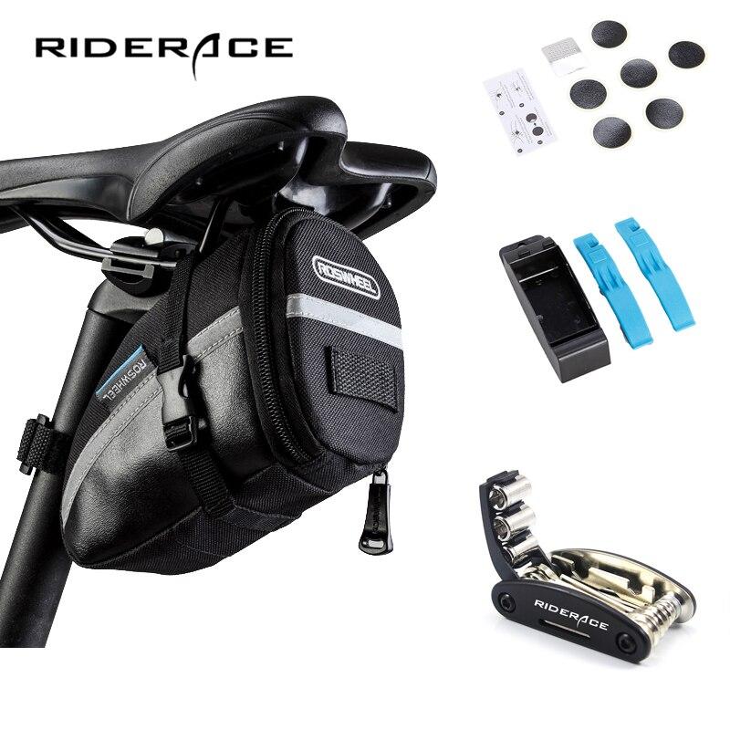 เครื่องมือซ่อมจักรยานชุดอานถุงขี่จักรยานPack MTBจักรยานอุปกรณ์เสริมเครื่องมือมัลติฟังก์ชั่น...