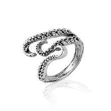 Vintage Octopus Tentacle Rings For Men Personality Shaped Adjustable Opening Metal Zinc Alloy Male 2019