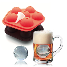 Basketball Ice Mold 6 Cell with Silicone Round Lattice Cover Box Food-Grade Cream Maker Baking Kitchen Tools