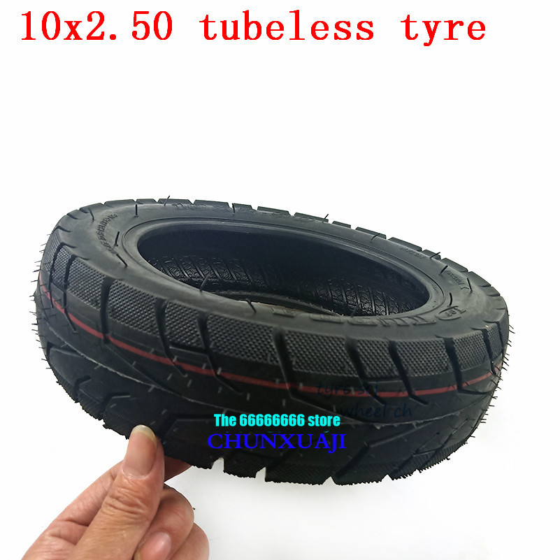 10x2.50 Electric Scooter Balancing Hoverboard self Smart Balance Tubeless <font><b>Tire</b></font> Outer Diameter 10 inch Vacuum tyre <font><b>10*2.5</b></font> <font><b>tire</b></font> image