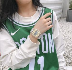 Image 3 - Moda mężczyzna kobiet zegarki złoty Casual przezroczysty zegarek sportowy cyfrowy zegarek kochanka zegar na prezent wodoodporny zegarek dziecięcy dla dzieci