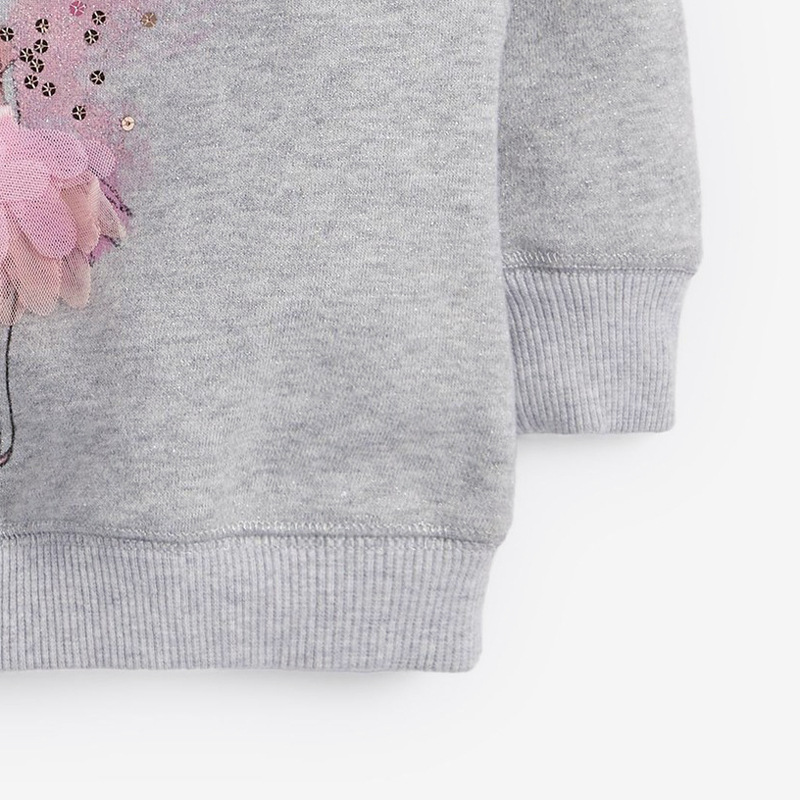 Little Maven children's sweater autumn winter children's sweater girls' long sleeve round neck fleece children's sweater C0311 4