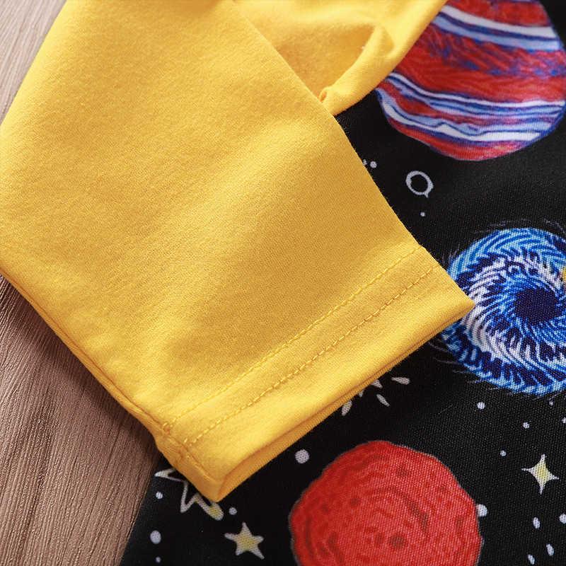 Otoño primavera bebé mamelucos infantil niños ropa niño niñas galaxia espacio planeta estampado traje de manga larga ropa mono