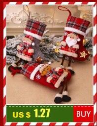 Santa Deer Pattern Christmas Cushion Cover Decorative Throw Pillow 45*45cm Polyester Pillowcase Xmas New Year Home Decor 40543 19